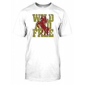Wild und frei - coole Pferd Kinder T Shirt