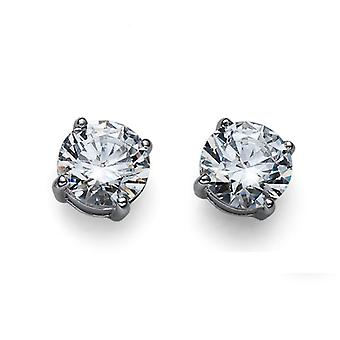 Oliver Weber Post Earring Brilliance Large 925Ag Rhodium Crysta