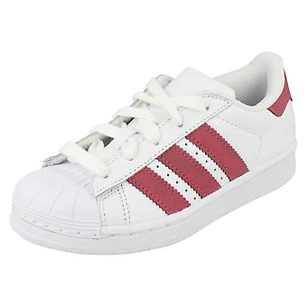 Girls Adidas Casual Trainers Superstar C