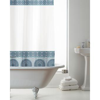 Country Club EVA Shower Curtain, Mandala Blue