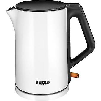 Unold Kettle cordless White (glossy), Black