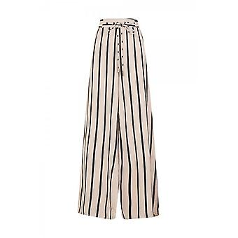 Girls On Film Womens/Ladies Striped Flared Trousers