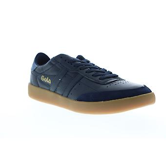 Gola Inca Leather  Mens Blue Retro Low Top Lifestyle Sneakers Shoes