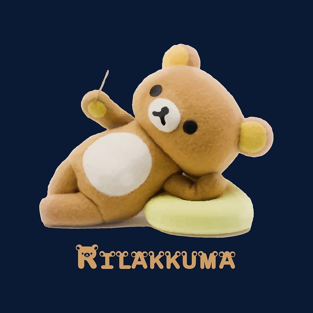 Laid Back Rilakkuma y Kaoru chaqueta de varsity para hombre