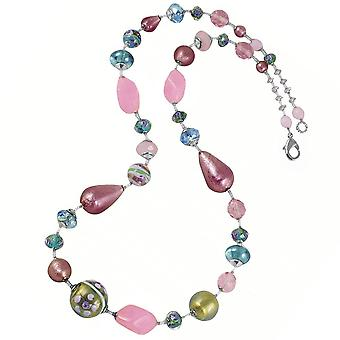 Eternal Collection Florissimo Rosa/Bluino Multi Designer Venetian Murano Verre Necklace