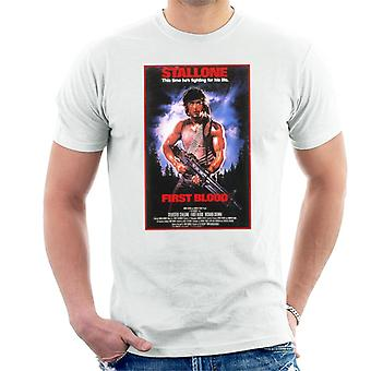 Rambo First Blood Poster Men's T-Shirt
