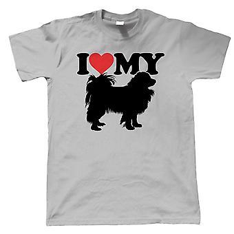 Jag älskar min Papillon Mens T-shirt - Hundar Gift honom pappa