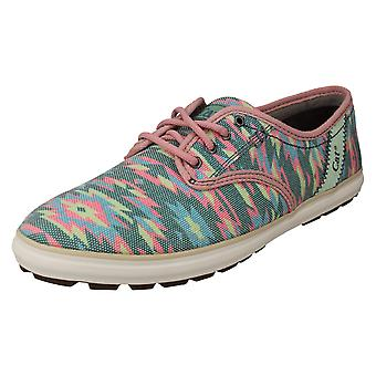 Ladies Caterpillar Canvas Shoes Fray
