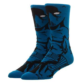 Crew Sock - Marvel - Black Panther 360 Character New Licensed cr64hemvl