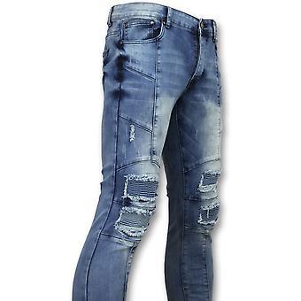 Skinny Biker Jeans -  Jeans - ZS1058 - Blauw