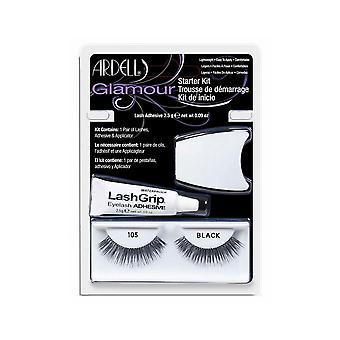 Ardell Moda 105 Lash Starter Kit Glamour Look Strip Ciglia con colla