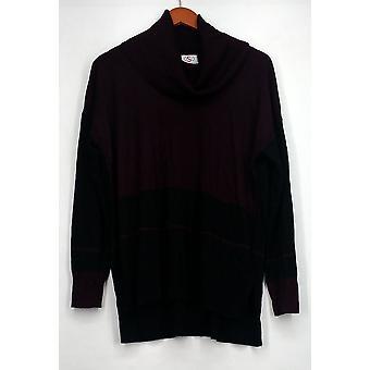 OSO Casuals trui Colorblock Stripe Cowl trui zwart/paars A428445