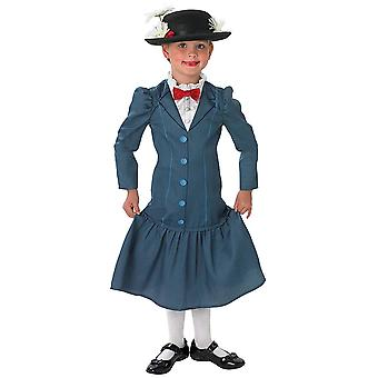 Mary Poppins Classic Deluxe Disney Movie Story Book Week Child Girls Costume