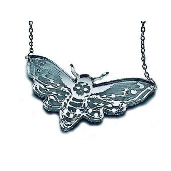 Curiology -mirror deaths head moth - necklace