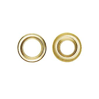 New W4 Brass Eyelets 10 Pack Gold