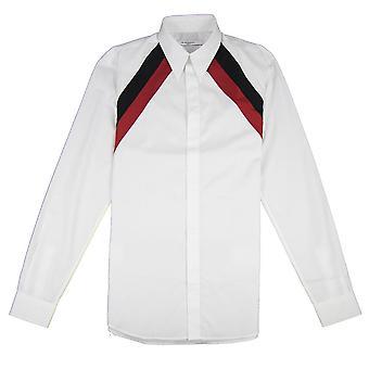 Givenchy gestreepte schouder shirt wit