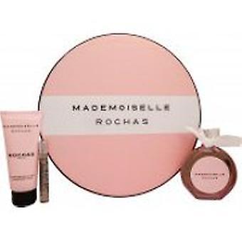 Rochas Mademoiselle Rochas lahja setti 90ml EDP + 100ml vartalo voide + 7,5 ml EDP