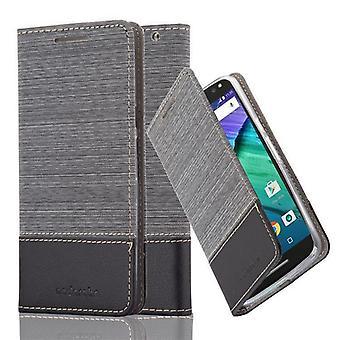 Cadorabo Hülle für موتورولا موتو X نمط تغطية القضية -- Handyhülle mit Magnetverschluss ، Standfunktion und Kartenfach -- غطاء القضية Schutzhülle Etui Tasche كتاب Klapp نمط
