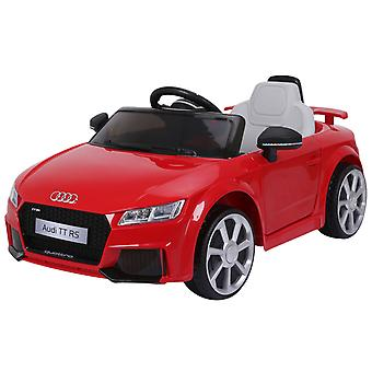 HOMCOM 12V Battery Licensed Audi TT RS Ride On Car w/ Suspension, Headlights MP3 Player 2.5-5km/h Bright Red