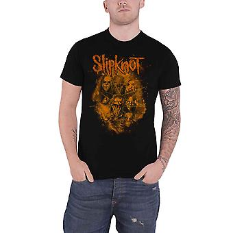 Slipknot T Shirt We Are Not Your Kind Orange Band Logo new Official Mens Black