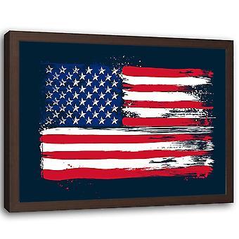 Imagen en marco natural, bandera de los Estados Unidos