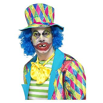 Mens Psycho Clown tanden Fancy Dress accessoire
