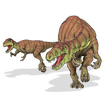 Aufkleber Dinosaurier Dino Jurassic Deco Kinderzimmer 2 Afrovenator