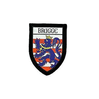 Usg Brode Thermocollant Drukuje Blason Patch FlagECusson Bruges Belgia