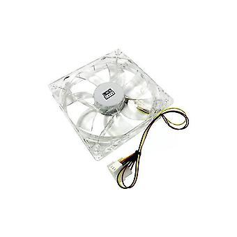 Dynamode LMS 12 cm 4/3-Pin danych przezroczyste LED Enhanced wentylator obudowy PC - fioletowy