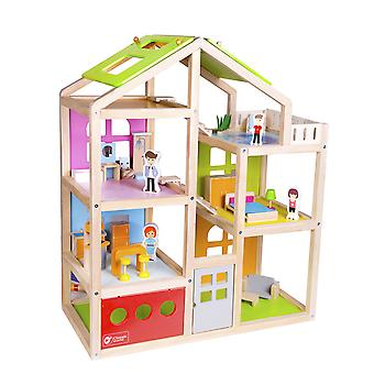 Colourful Classic World - DIY Wooden Happy Villa Doll's House Furniture Set