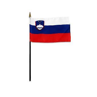 Slovenia medium hand flag 9″ x 6″