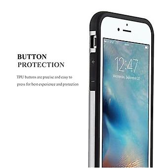 Cadorabo Case voor Apple iPhone 6 / iPhone 6S - Case in GUARDIAN SILVER – Hard Case TPU Siliconen beschermhoes voor hybride cover in Outdoor Heavy Duty Design