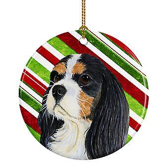 Cavalier Spaniel Candy Cane vacaciones Navidad adorno cerámica LH9234