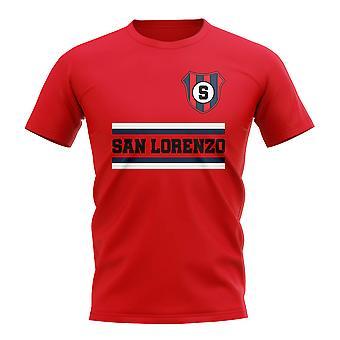 San Lorenzo kjerne fotballklubb T-skjorte (rød)