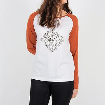 Passenger tamarack long sleeve t-shirt - white & cinamon