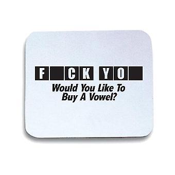 White mouse pad trk0296 buy vowel