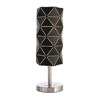 Lámpara de mesa Asterope lineal E27 60W H 450mm black metal