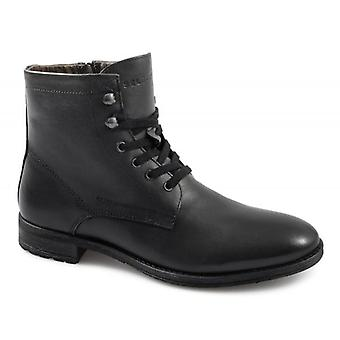 Selected Homme Rich Leather Noos Mens Lace-up Boots Black