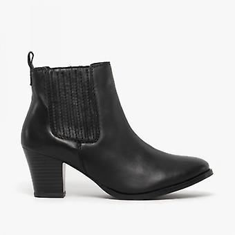 Comfort Plus Kayleigh Ladies Leather Ankle Boots Black