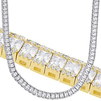 Sterling 925 Silver Square Round CZ Tennis Chain 5mm