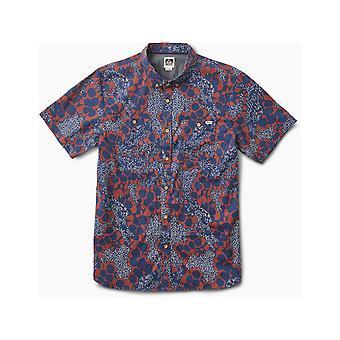 Reef Flower Specks Short Sleeve Shirt in Blue