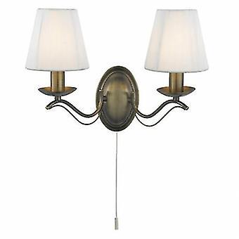 2 luce indoor candela parete luce ottone antico con sfumature