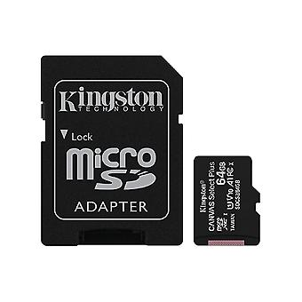 Kingston 64GB microSDHC Canvas Select Plus 100MB/s Read A1 Class 10 UHS-I Bellek Kartı + Adaptör (SDCS2/64GB)