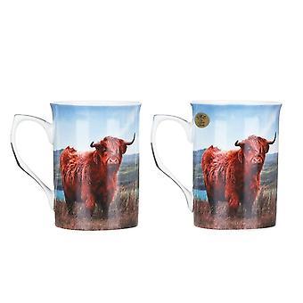 Leonardo Sammlung Highland Kuh Set von zwei Tassen