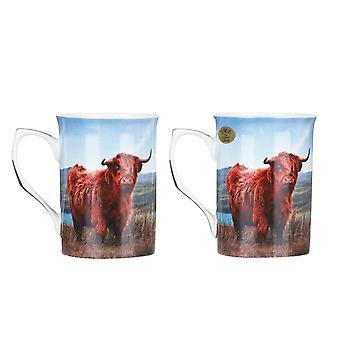 Leonardo Collection Highland Cow Set Of Two Mugs