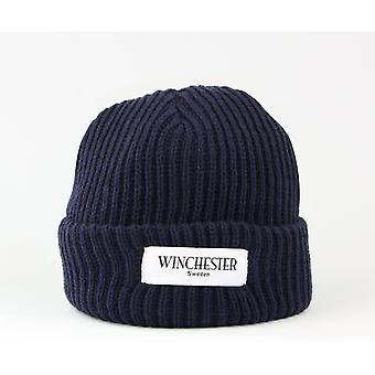 Hipster cap Beanie navy blue, chimney sweep, sailor hat