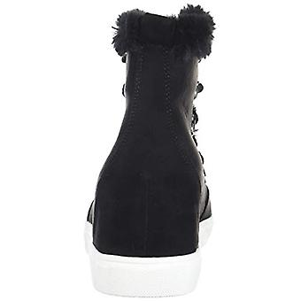 Madden Girl Women's Pulley Ankle Boot, Black Fabric, 10 M US