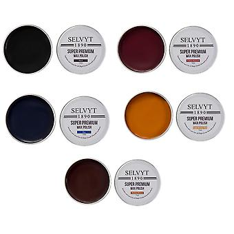 Selvyt 1890 Super Premium Wax Polish, Jar Brush and Polishing Cloth Kit