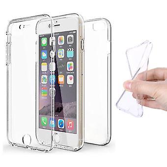 Stoff zertifiziert® iPhone 7 Ganzkörper 360 ° Transparente TPU Silikon-Etui + PET-Bildschirmschutz