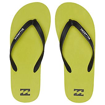 Billabong Water Resistant Mens Thongs ~ getijden solide kalk